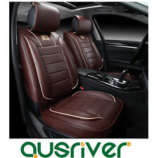 New Universal Leather Car Seat Cover Full Set Front Rear for A4 A6 BMW Passat