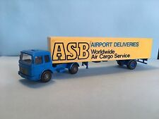 Wiking MAN Diesel ASB Airport Deliveries Blue/Yellow 1/87 Scale Rare/Selten