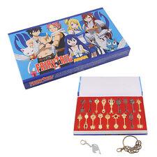 Fairy Tail of keys Blade Lucy Celestial Zodiac Spirit keychain Cosplay set 18pcs