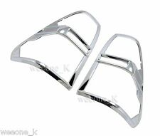 CHROME TAIL LIGHT TAILLIGHTS COVER TRIM FOR TOYOTA HILUX REVO PICKUP 2015 2016