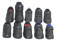 BOYS Smart Black Back To SCHOOL SHOES Kids Infant Velcro Trainers  KIDS SIZE 8-6