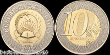 ANGOLA 10 KWANZA BEAUTIFUL BIMETEAL COIN UNC # 2003