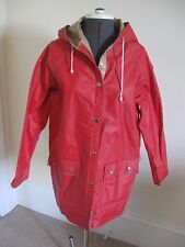 Vintage 80's Reversible Vinyl Snap Front w/pockets Slicker Rain Coat Jacket M