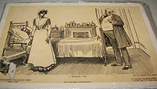 "Charles Dana Gibson Art Supplement LA Times APRIL 1, 1906 ""A Hopeless Case"