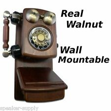 Golden Eagle Walnut Country Wood Wall Telephone Phone Vintage Antique Mountable