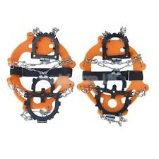 Ice Snow Chain Crampons Shoe Cover Spike Gripper Non-slip 12 Spikes climbing
