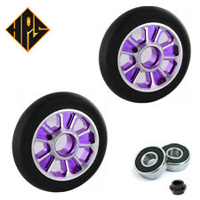1X PRO STUNT SCOOTER PURPLE SOLID METAL CORE WHEEL 110mm 88A ABEC 9 BEARINGS 11
