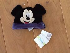 mothercare Baby Disney Mickey mouse hat velvet ears NWT Sz up to 6months old