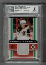 2013-14 UD SP Game Used Dougie Hamilton RC GU Fight Strap #'D 10/15 BGS 8 NM-MT