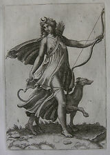 ADAMO SCULTORI (GHISI) ´DIANA ALS JÄGERIN; DIANA OF THE HUNT´ BARTSCH 18, ~1565