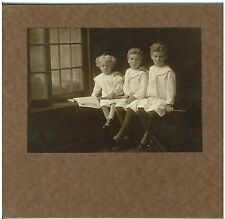 Vintage B&W Photo 3 Nicely Dressed Boys  circa early 1900s