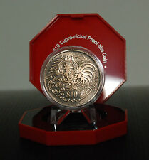 1993 Singapore Yr Of The Rooster 2nd seris Zodiac UNC Coin.