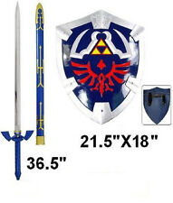 Legend of zelda Ocarina of time link's Master sword and shield set anime cosplay