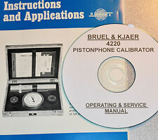 Bruel & Kjaer 4220 Pistonphone Calibrator Operating & Service Manual