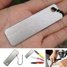 EDC Pocket Diamond Stone Sharpener Schlüsselanhänger Sharpen Tool Outdoor