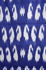 Ikat de tela a mano METERWARE algodón azul-blanco uzbekistán UzbekistÃ