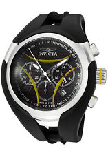 New Mens Invicta 1605 S1 Nitro Chronograph Carbon Fiber Dial Black Rubber Watch