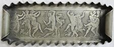 Silverplate Tray Reed&Barton Desk/Dresser Dancing Gods Engraved Old Vtg Antique