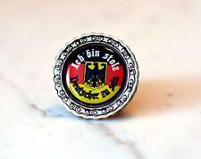 Ich bin stolz, Deutscher zu sein Biker Metal Pin with 3D sticker Abzeichen
