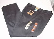Dockers NWT Mens Pants 36 x 29 Iron Free Flat Front Straight Fit Black / Gray