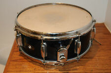 VINTAGE SLINGERLAND EARLY SOLID SNARE DRUM  BLUE SPARKLE BLACK LABEL PERCUSSION.