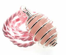 ROSE QUARTZ LOVE grandi Gemstone Cristallo Ciondolo a spirale