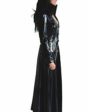 PVC-Leather Victorian Steampunk coat jacket trench corset-cording S-3XL selectab