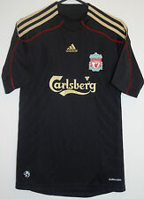 "EX! Liverpool FC 2009/2010 Away Shirt Black XS EXTRA SMALL 30"" - 32"""