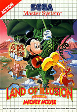 Land Of Illusion Starring Mickey Mouse Sega Master System enmarcado impresión (juego)