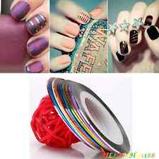 10PC Colorful Rolls Striping Tape Line Nail Decoration Sticker Fr Wowen Girl AHY