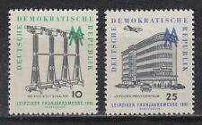 DDR East Germany 1961 ** Mi.813/14 Leipziger Messe Fair Gebäude Building