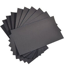 """10-Pack HQRP 3"""" x 5 1/2"""" Wet Dry Sandpaper 1000 Grit Waterproof Silicone Carbide"""