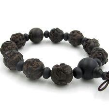 15mm Wood Eighteen Arhat Design Tibet Buddhist Prayer Beads Mala Bracelet