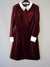Ted Baker velvet dress Cheryll embellished Collared party Tunic Size 2 / UK 10