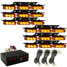 54 LED Emergency Car Vehicle Strobe Lights Bars Warning Amber/Yellow