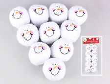 Youngs Decor Toy - Indoor Snowballs Snow Ball Fight Funny Face Plush Kit 10pcs.