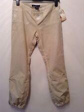 """BNWT """" Earl Jean """" W 26"""" Beige / Sandri Cotton Cuffed Trousers Chinos Size 8-10"""