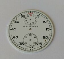 Nero Lemania Pocket Watch Dial 44mm Approx Enamel