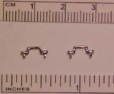 RDLC Traditional 1:9 Model Scale Footman Loops / Saddle Staples - SILVER-TONED