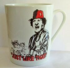 TOMMY COOPER Just Like That WHITE CERAMIC MUG British Comedy