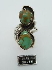 .925 Sterling Silver TURQUOISE Ring by SR  Size 7.75