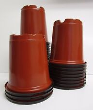 Set of 70 - 4 inch ROUND BROWN NURSERY POTS Plastic plants pot flower HC Company