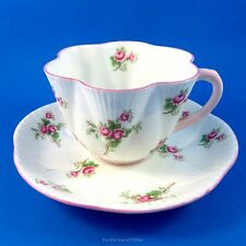 Dainty Shape Bridal Rose Shelley Tea Cup and Saucer Set