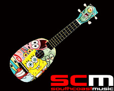 SPONGEBOB SQUAREPANTS PINEAPPLE UKULELE w UKE GIG BAG PLECTRUM PITCH PIPES NEW