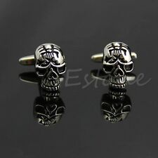 Novelty Skull Stainless Steel Vintage Men's Wedding Party Gift Shirt Cuff Links