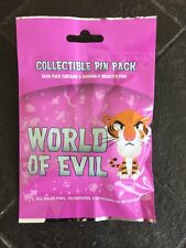 Disney Pins Character World Of Evil Pin Bag Set New
