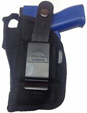 ProTech Gun Holster fits Beretta Nano with Laser Black Nylon Use L or R Hand