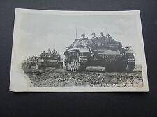 GERMAN WW2 PANZER  POSTCARD.