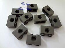 NEW Lego Technic 1x2 DARK GRAY BRICK with Holes - 10 Bricks - NEW
