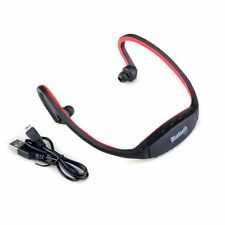 Red Wireless Bluetooth Handfree Stereo Headset Sports Headphone For Cell Phone